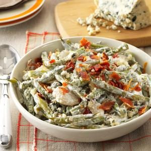 Garlic Green Beans with Gorgonzola Recipe