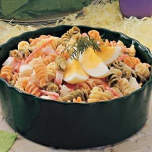Pasta Crab Egg Salad Recipe