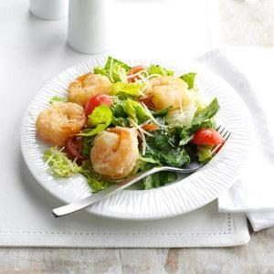 Crispy Shrimp Caesar Salad Recipe