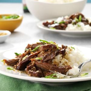 Slow Cooker Garlic-Sesame Beef Recipe