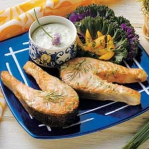 Salmon with Chive Mayonnaise Recipe