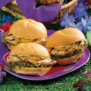 Luau Chicken Sandwiches Recipe