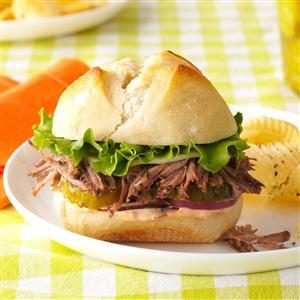 Zesty Italian Beef Sandwiches Recipe