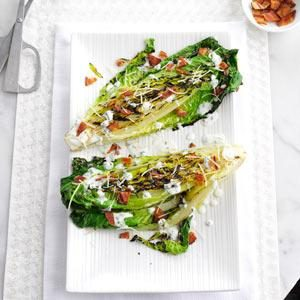 Grilled Romaine with Chive-Buttermilk Dressing
