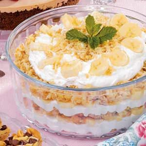 Banana Macaroon Trifle Recipe