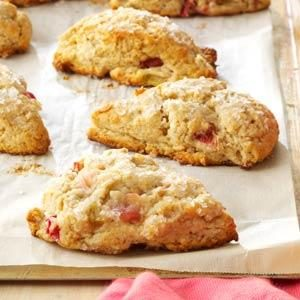 Rhubarb Scones Recipe