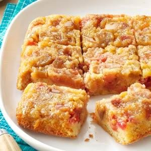 Rosy Rhubarb Upside-Down Cake Recipe