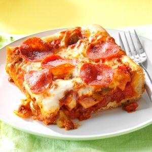 Quick & Easy Deep Dish Pizza Recipe