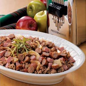 Meaty Apple Skillet Recipe