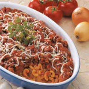 Meaty Macaroni Bake Recipe