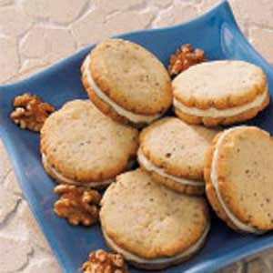 Walnut Sandwich Cookies