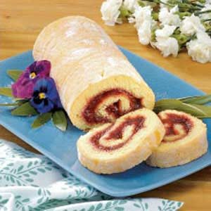 Rhubarb Jelly-Roll Cake Recipe