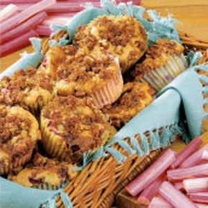 Rhubarb Streusel Muffins Recipe
