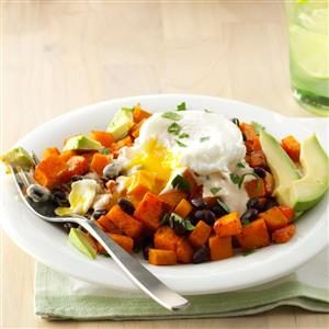 Southwest Hash with Adobo-Lime Crema Recipe