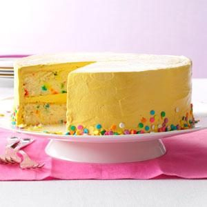 Confetti Cake with Brown Sugar Buttercream Recipe