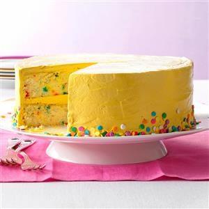 Confetti Cake with Brown Sugar Buttercream Recipe
