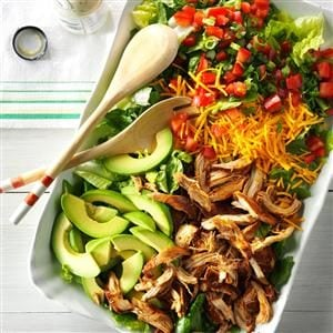 Slow Cooker Chicken Taco Salad