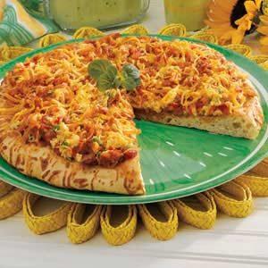 Spicy Breakfast Pizza Recipe