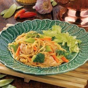 Stir-Fried Chicken and Noodles Recipe