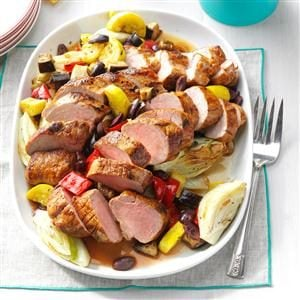 Creole Pork Tenderloin with Vegetables