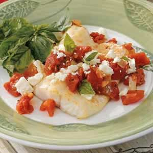Feta Tomato-Basil Fish Recipe