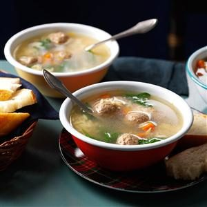 Meatball & Pasta Soup Recipe