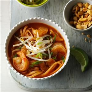 Shrimp Pad Thai Soup Recipe