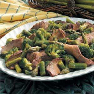 Beefy Broccoli Asparagus Salad