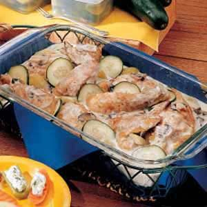 Chicken with Cucumbers Recipe