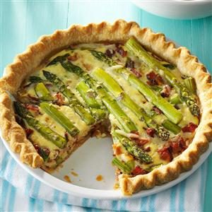 Asparagus Swiss Quiche Recipe
