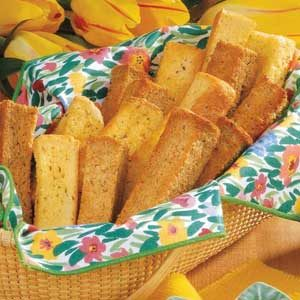 Crisp Cheese Breadsticks Recipe