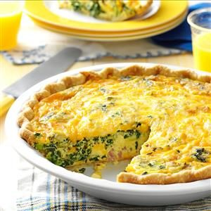 Ham & Collards Quiche Recipe