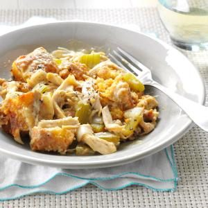 Chicken Corn Bread Casserole Recipe