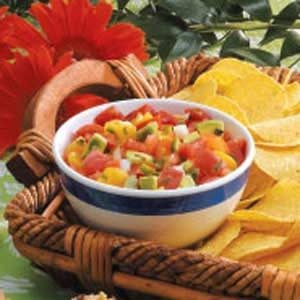 Peachy Avocado Salsa Recipe