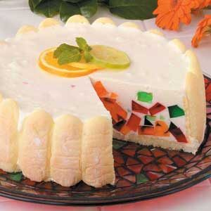 Jeweled Gelatin Torte Recipe