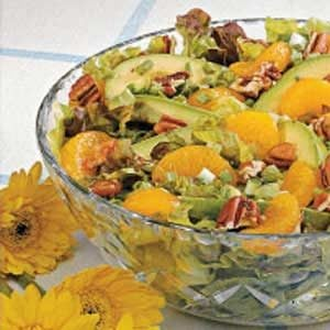 Avocado Mandarin Tossed Salad Recipe