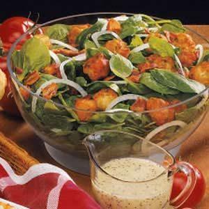 Vidalia Onion Spinach Salad Recipe