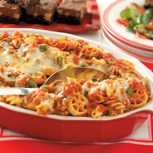 Four-Pasta Beef Bake Recipe