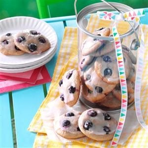 Soft Blueberry Button Cookies Recipe