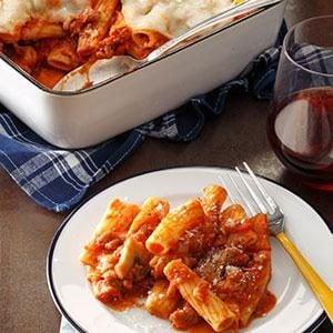 Italian Sausage Rigatoni Bake Recipe photo by Taste of Home