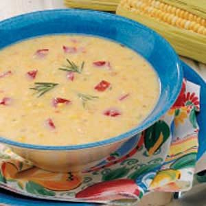 Rosemary Corn Soup Recipe