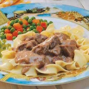 Beef in Onion Gravy Recipe