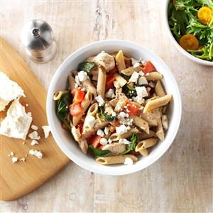 Spinach-Feta Chicken Penne Recipe
