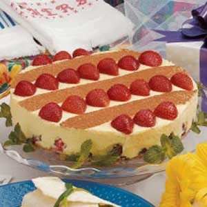 White Chocolate Strawberry Torte Recipe