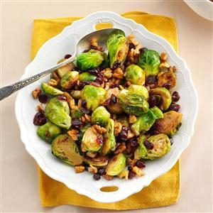 Cranberry-Walnut Brussels Sprouts Recipe