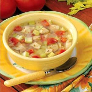 Chicken Vegetable Soup with Tomatoes Recipe