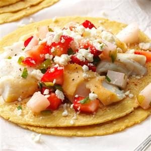 Fish Tacos with Berry Salsa Recipe