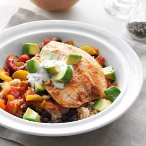 Spicy Tilapia Rice Bowl Recipe