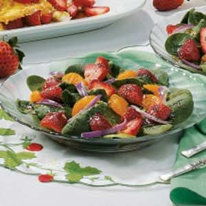 Strawberry-Orange Spinach Salad Recipe