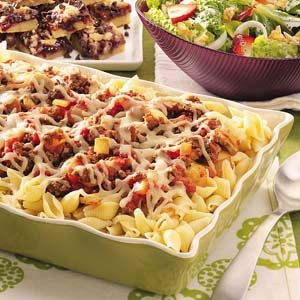Double-Cheese Beef Pasta